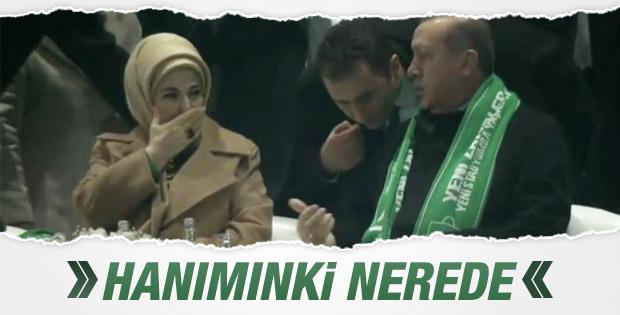 Cumhurbaşkanı Erdoğan'dan eşine atkı jesti