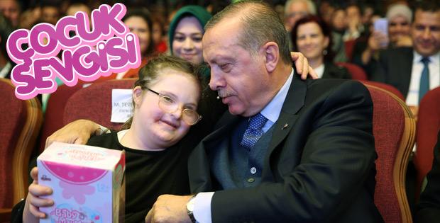 Cumhurbaşkanı'nın çocuk sevgisi