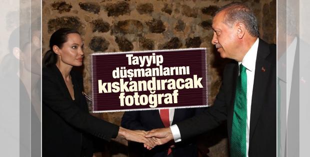 Cumhurbaşkanı Erdoğan Angelina Jolie ile görüştü