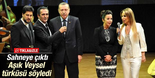 Erdoğan Aşık Veysel'in türküsünü söyledi İZLE