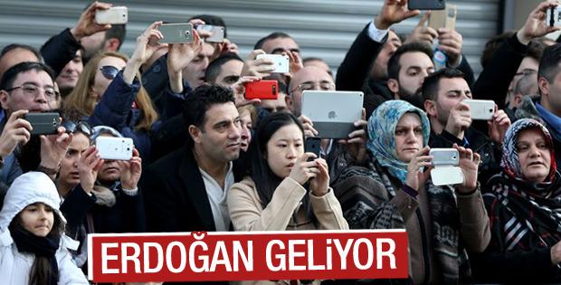 Erdoğan fotoğrafı için beklediler
