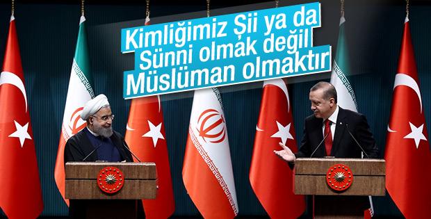 Erdoğan ve Ruhani'nin ortak basın açıklaması