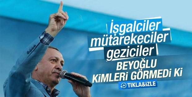 Cumhurbaşkanı Erdoğan'ın Beyoğlu konuşması