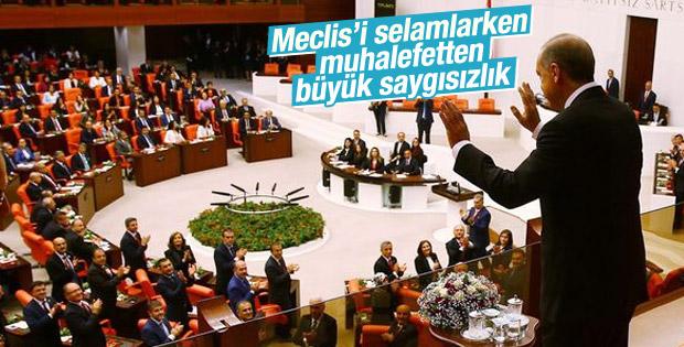 Muhalefetten Cumhurbaşkanı Erdoğan'a büyük saygısızlık