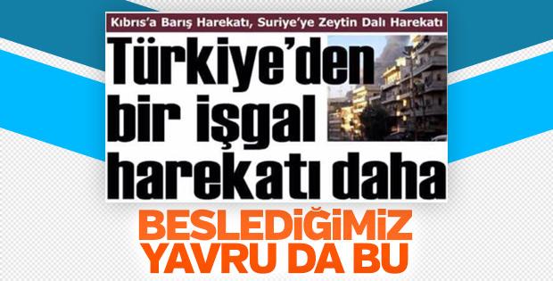 Kuzey Kıbrıs gazetesinden küstah Afrin haberi