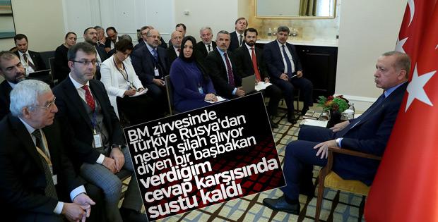 Erdoğan, gazetecilere BM görüşmelerini değerlendirdi