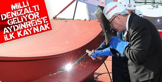 Aydınreis denizaltısına ilk kaynak Başkan Erdoğan'dan