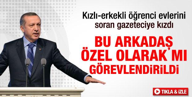 Erdoğan'dan gazeteciye: Özel olarak mı görevlendirildin - izle
