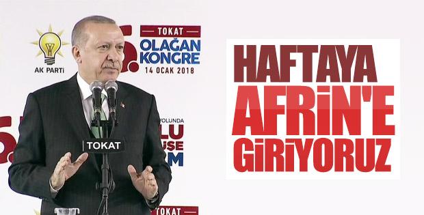 Cumhurbaşkanı Erdoğan Tokat il kongresinde