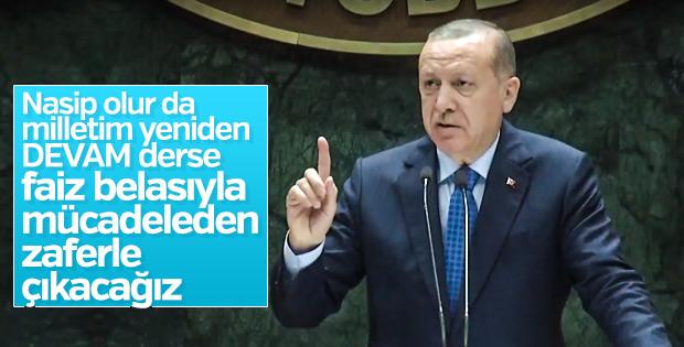 Cumhurbaşkanı Erdoğan'dan faiz değerlendirmesi