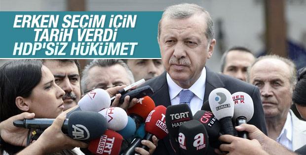 Erdoğan erken seçim için tarih verdi: 1 Kasım