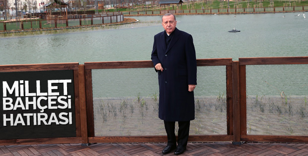 Başkan Erdoğan'dan millet bahçesinde hatıra pozu