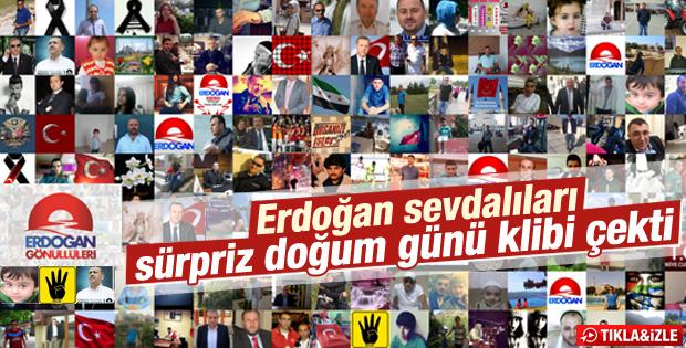 Erdoğan'ın doğum gününe özel klip