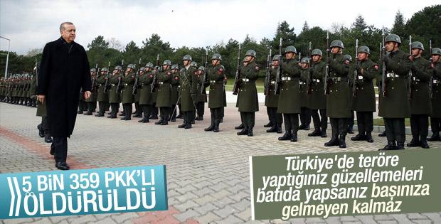 Erdoğan operasyonların bilançosunu açıkladı