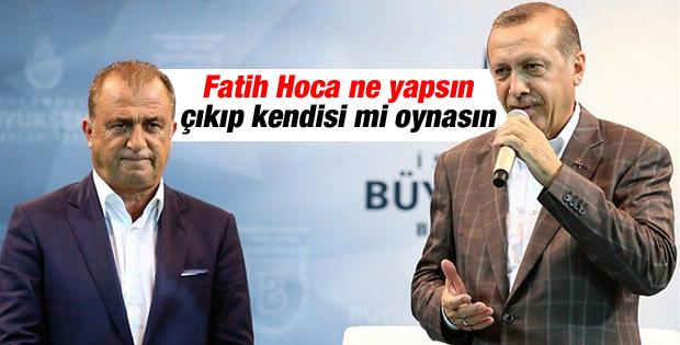Cumhurbaşkanı Erdoğan Fatih Terim'e sahip çıktı