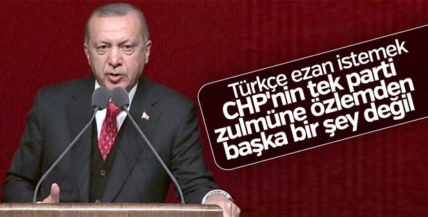 Başkan Erdoğan'ın Türkçe ezan çıkışı