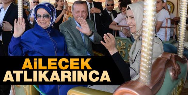 Erdoğan atlıkarıncaya bindi