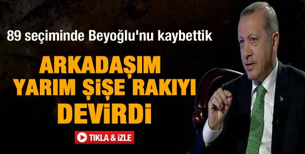 Erdoğan Beyoğlu adaylığında yaşadıklarını anlattı