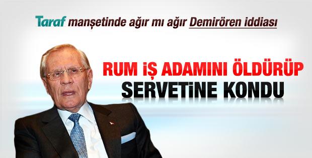 Erdoğan Demirören'den Taraf gazetesine yanıt