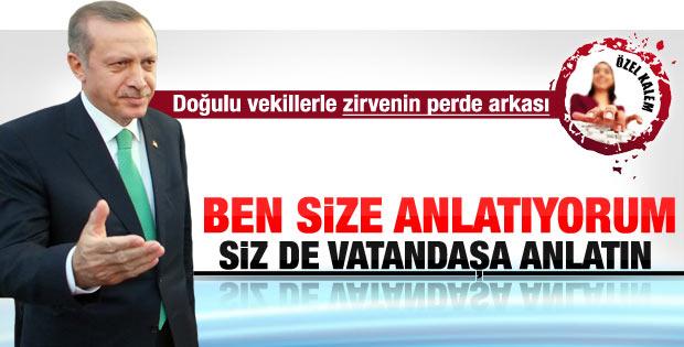 Erdoğan'ın Doğulu vekillerle görüşmesinin perde arkası