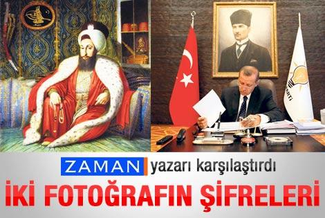 Erdoğan ve 3. Selim resimlerinin karşılaştırılması