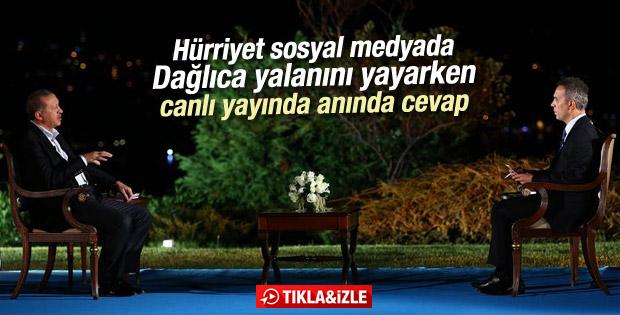 Erdoğan çarpıtma haberlere anında cevap verdi