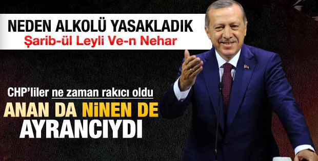 Erdoğan'dan alkol yasağına tepki