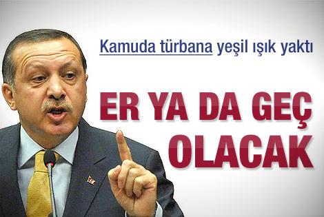 Erdoğan'dan kamuda türban açıklaması