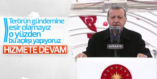 Erdoğan'ın Avrasya Tüneli konuşması
