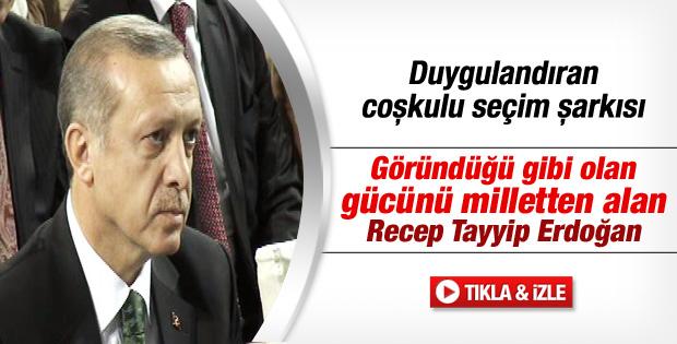Erdoğan'ı duygulandıran coşkulu seçim şarkısı - izle
