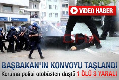 Erdoğan'ın Hopa mitingi öncesi olay