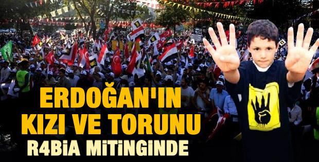 Erdoğan'ın kızı ve torunu da Saraçhane mitingindeydi