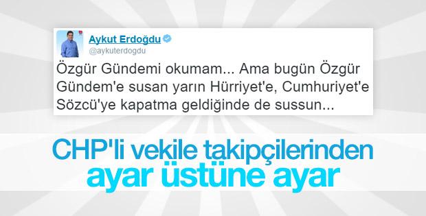 CHP'li Erdoğdu'dan Özgür Gündem'in kapatılmasına tepki