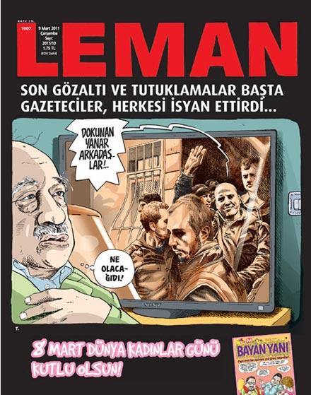 Leman'dan Gülen ve Ergenekon kapağı