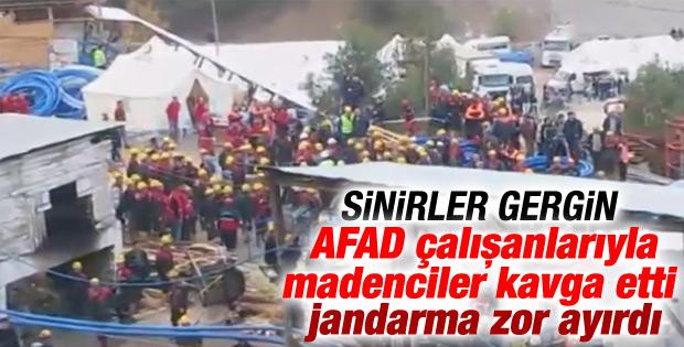 Ermenek'te maden işçileriyle AFAD çalışanları kavga etti