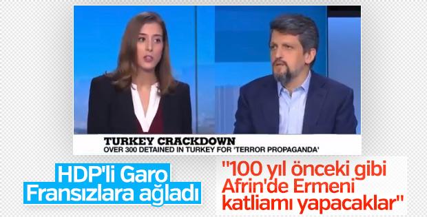 HDP'li Garo Paylan Fransız kanalında Türkiye'yi suçladı