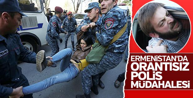 Ermenistan'da polis şiddet ile Kadife Devrim'i bastırıyor