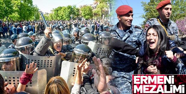 Ermenistan'da Sarkisyan protestosu
