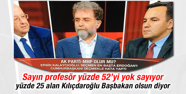 Ersin Kalaycıoğlu: Seçmen Erdoğan'ı seçmekle hata yaptı