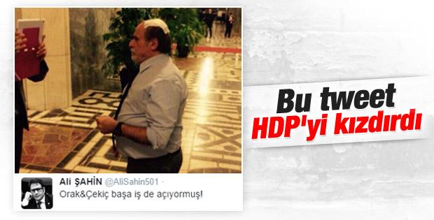 HDP'liler AK Partili Şahin'in esprisine kızdı