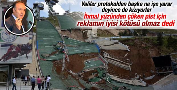 Erzurum Valisi'nden tepki çeken pist yorumu