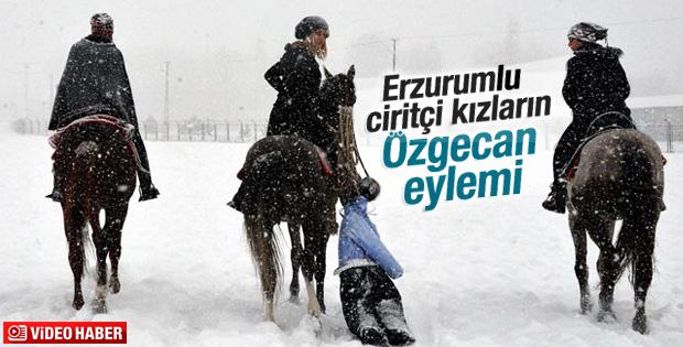 Erzurumlu ciritçi kızların Özgecan eylemi