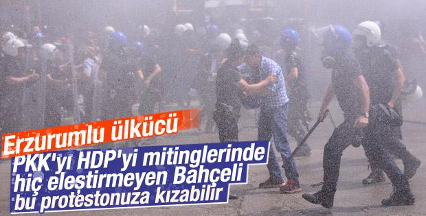 Erzurum'da HDP mitingi öncesi gerginlik çıktı