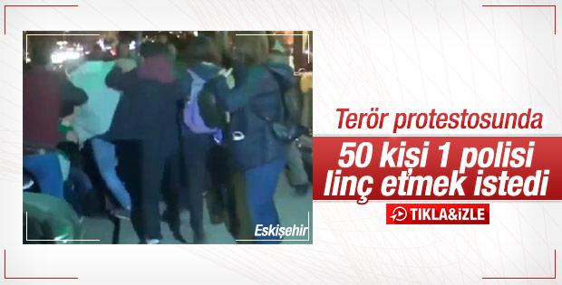 Eskişehir'de polise linç girişimi