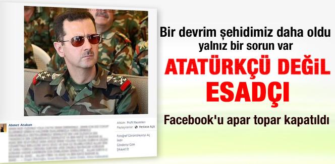 Hatay'da ölen Ahmet Atakan Esad hayranı çıktı
