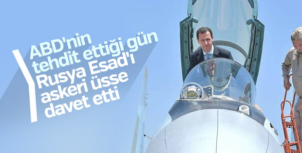 Gerasimov ve Esad Hmeymim Hava Üssü'nde bir araya geldi