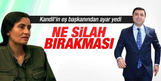 Kandil'den Selahattin Demirtaş'a silah bırakma tepkisi