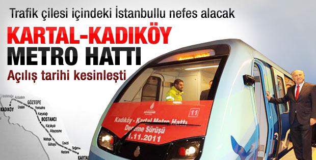 Kartal-Kadıköy metrosunun ilk sefer tarihi belli oldu