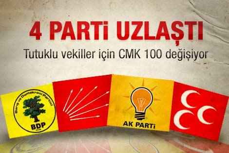 Meclis'teki 4 parti tutuklu vekiller konusunda uzlaştı