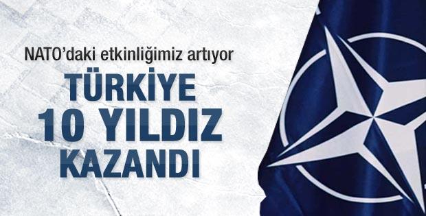 Türkiye NATO'da 10 yıldız kazandı